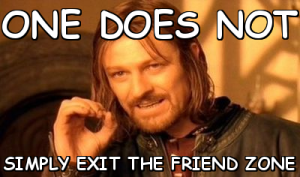 Lord of The Rings friend zone meme.