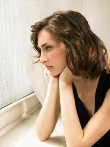 woman longing